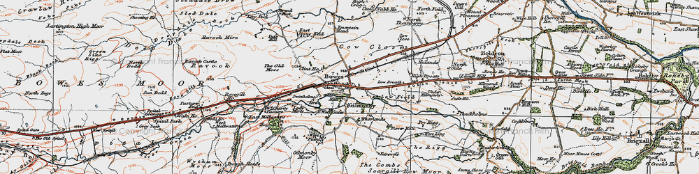 Old map of West Stoney Keld in 1925