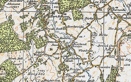 Old map of Barkbooth in 1925