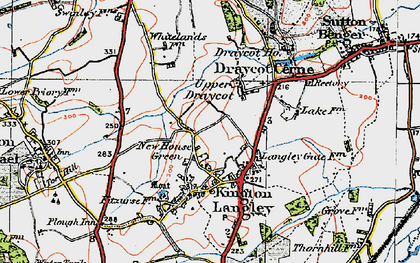 Old map of Bowldown in 1919