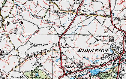 Old map of Whittle Brook in 1924