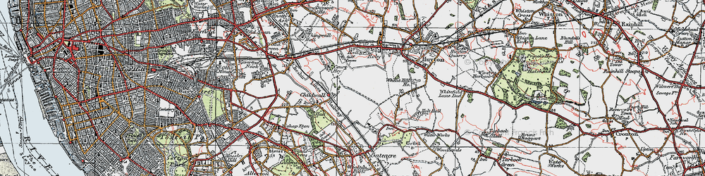 Old map of Bowring Park in 1923