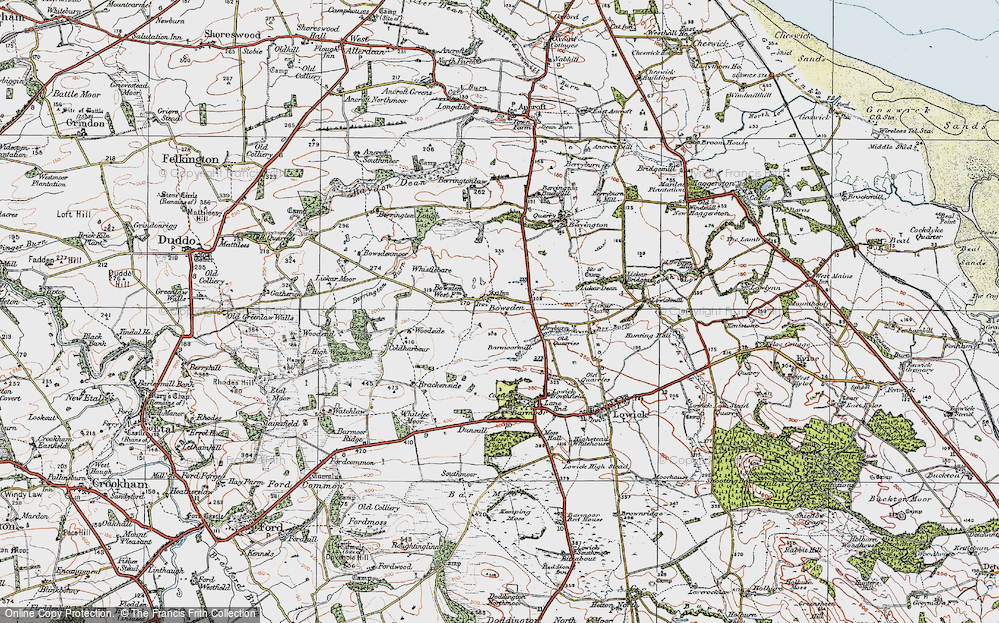 Old Map of Historic Map covering Woodend in 1926