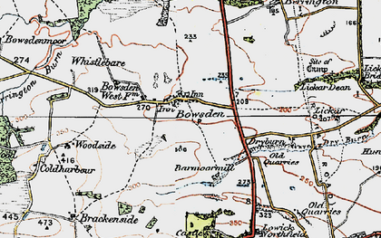 Old map of Lickar Lea in 1926