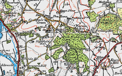 Old map of Bowsey Hill in 1919