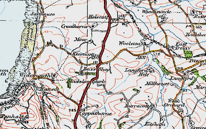 Old map of Langford Hele in 1919