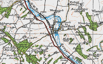 Old map of Boxford in 1919