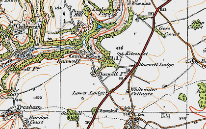 Old map of Boxwell in 1919