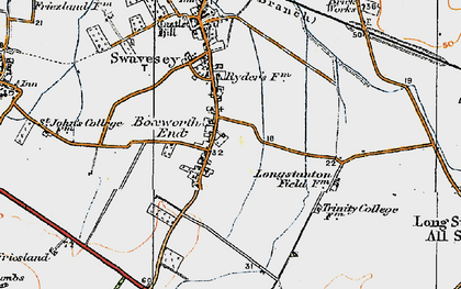 Old map of Boxworth End in 1920