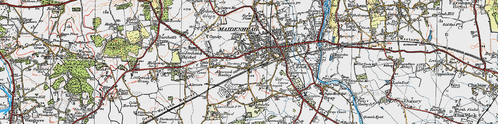 Old map of Boyn Hill in 1919