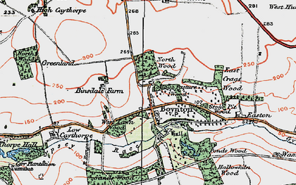 Old map of Boynton in 1924