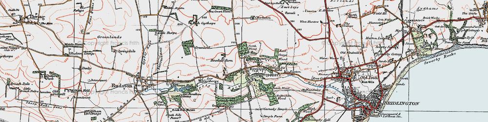 Old map of Boynton in 1924