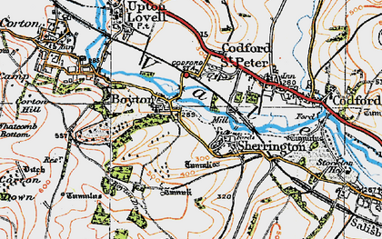 Old map of Boyton in 1919