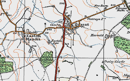 Old map of Bozeat in 1919