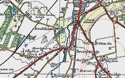Old map of Whitehall in 1923