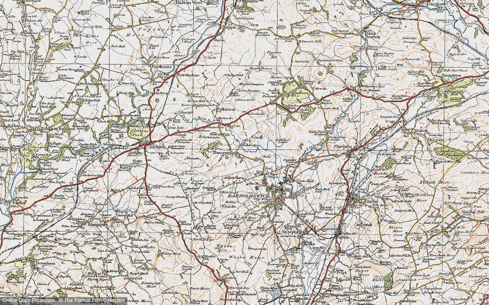 Old Map of Bracewell, 1924 in 1924