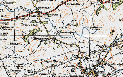 Old map of Bracewell in 1924