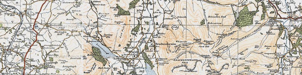 Old map of Latterhead in 1925