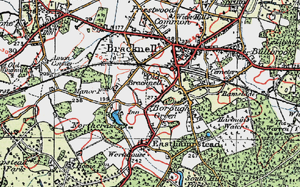 Old map of Bracknell in 1919