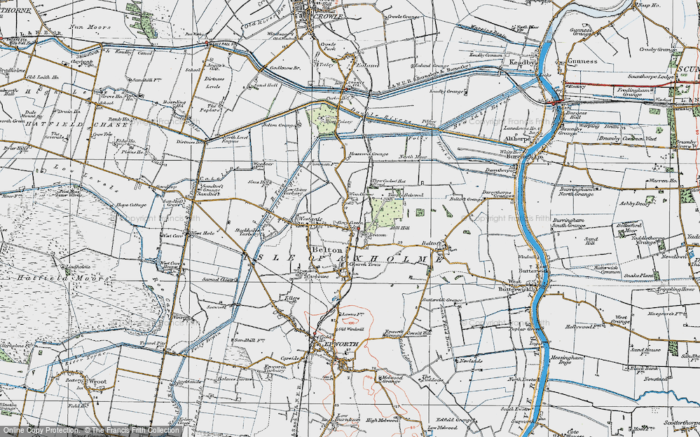 Old Map of Bracon, 1923 in 1923