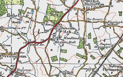 Old map of Mergate Hall in 1922
