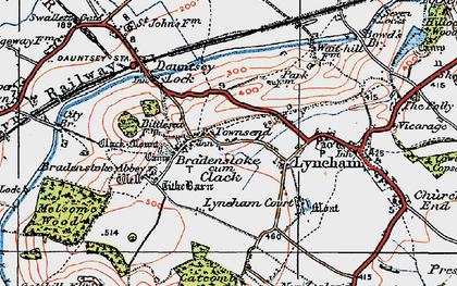 Old map of Bradenstoke in 1919