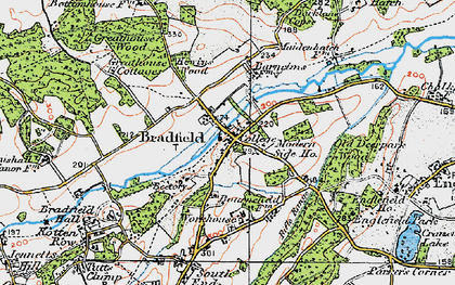 Old map of Bradfield in 1919