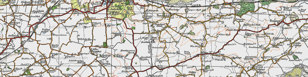 Old map of Wix Lodge in 1921