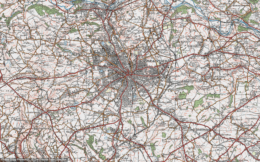 Old Map of Bradford, 1925 in 1925