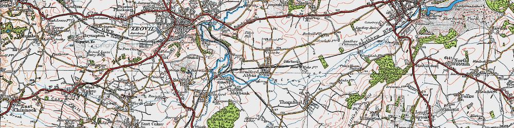 Old map of Yeovil Junc Sta in 1919