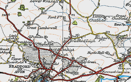 Old map of Bradford Leigh in 1919
