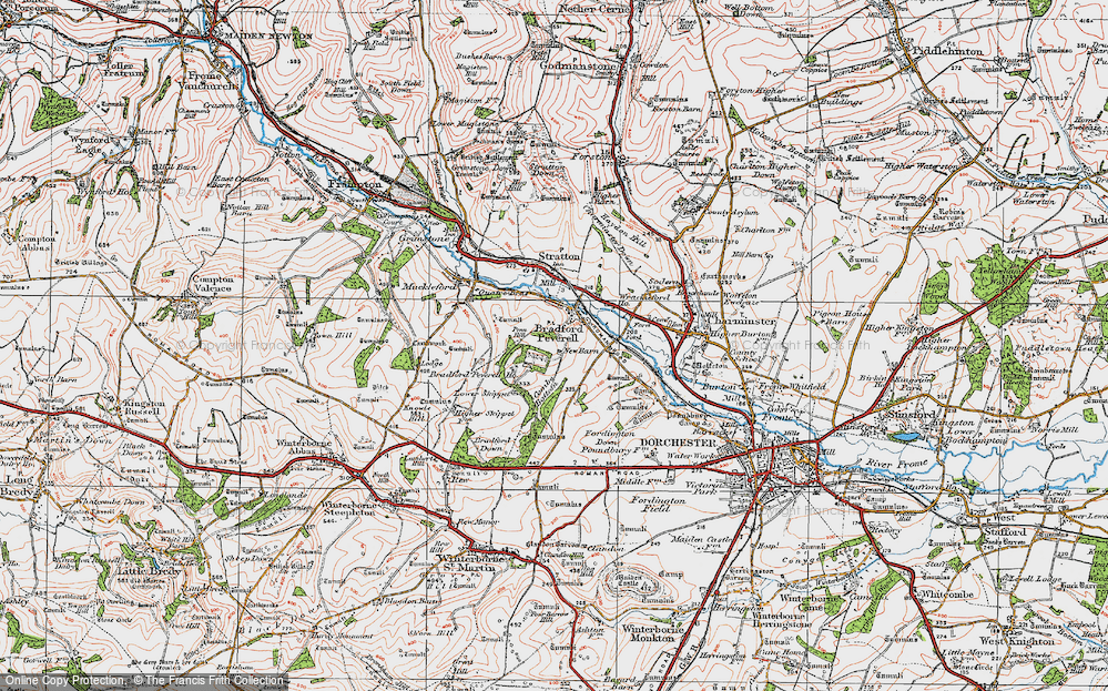 Old Map of Historic Map covering Tilly Whim in 1919