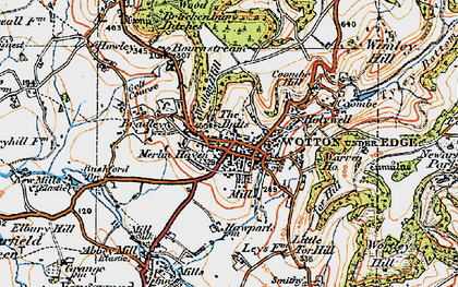 Old map of Wotton Hill in 1919