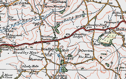 Old map of Agnes Meadow in 1921