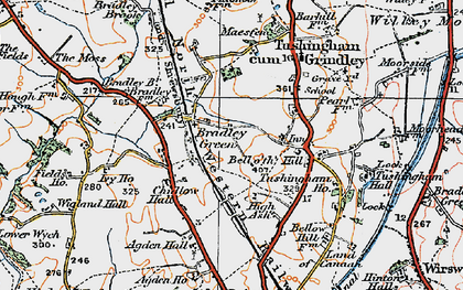 Old map of Agden Hall in 1921