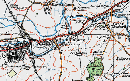 Old map of Bradville in 1919