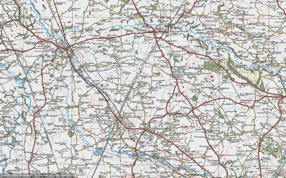 Old Map of Bradwall Green, 1923 in 1923