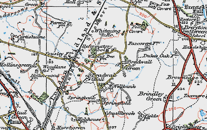 Old map of Whitening Ho in 1923