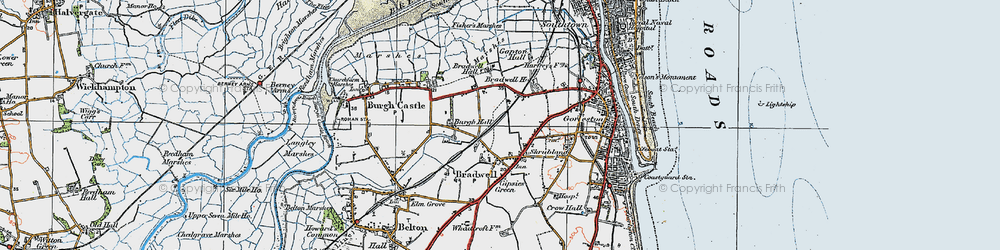 Old map of Bradwell in 1922