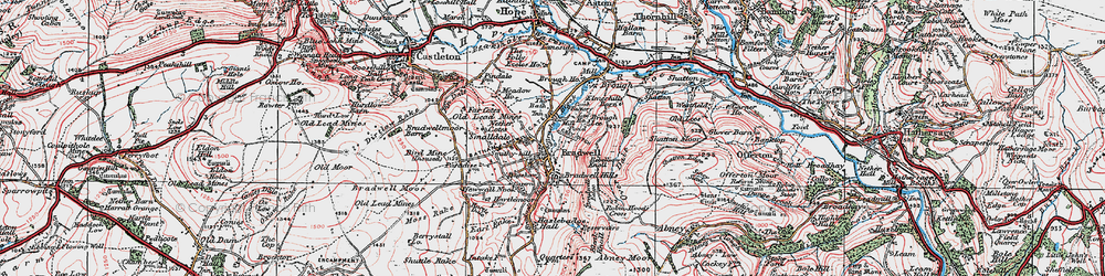 Old map of Bradwell in 1923