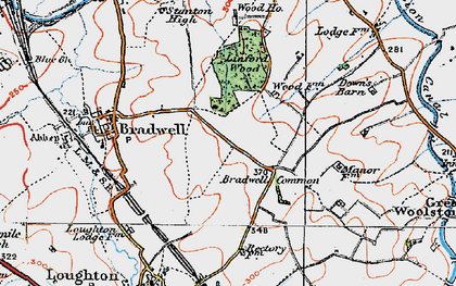 Old map of Bradwell Common in 1919