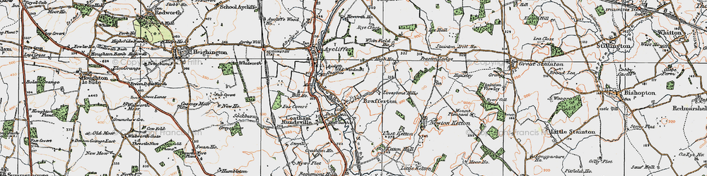 Old map of Whinfield Ho in 1925