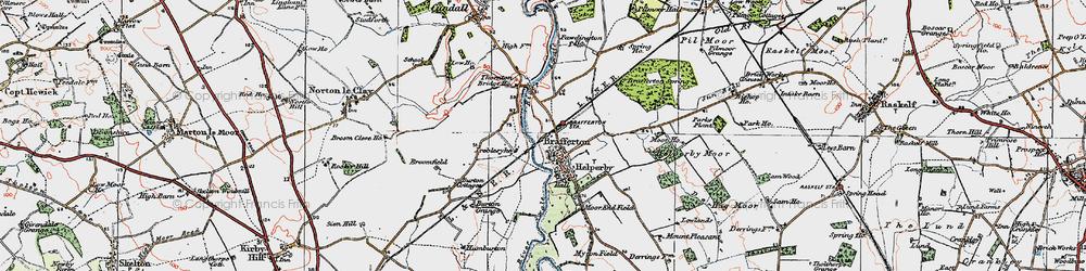 Old map of Brafferton in 1925
