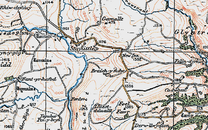 Old map of Braichyfedw in 1921