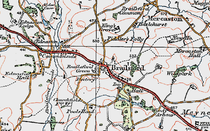 Old map of Wildpark in 1921
