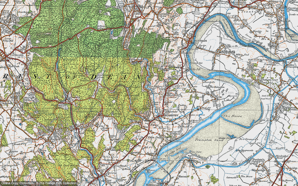 Old Map of Historic Map covering Ayleford in 1919
