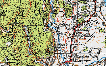 Old map of Ayleford in 1919