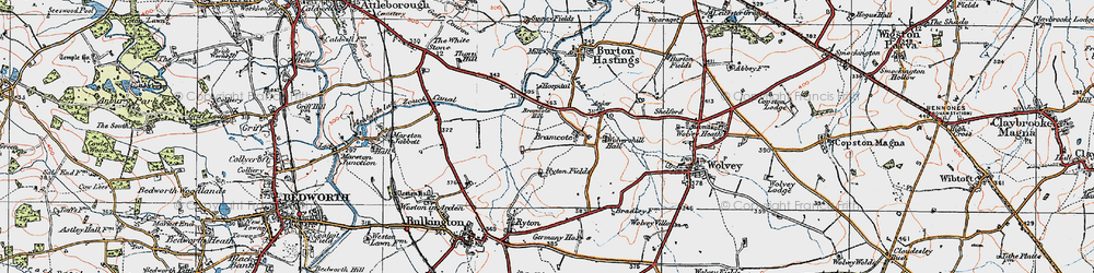 Old map of Bramcote in 1920