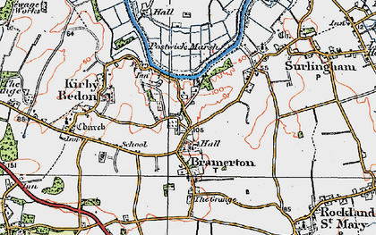 Old map of Bramerton in 1922