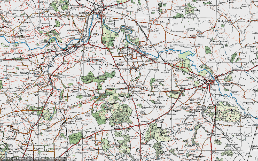 Old Map of Bramham, 1925 in 1925