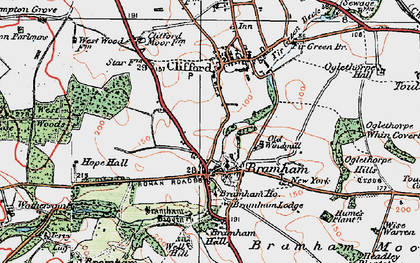 Old map of Bramham in 1925